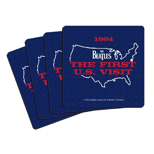 Beatles U.S. Visit 4-Inch Neoprene Coaster 4-Pack