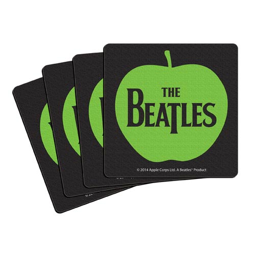 Beatles Apple 4-Inch Neoprene Coaster 4-Pack