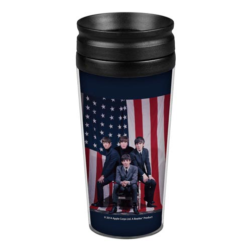 Beatles U.S. Visit 14 oz. Travel Tumbler