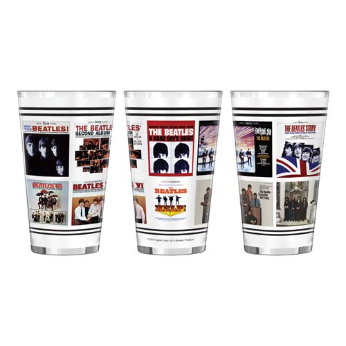 Beatles U.S. Albums 16 oz. Sublimated Pint Glass