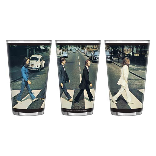 Beatles Abbey Road 16 oz. Sublimated Pint Glass