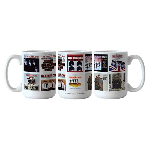 Beatles U.S. Albums 15 oz. Sublimated Coffee Mug