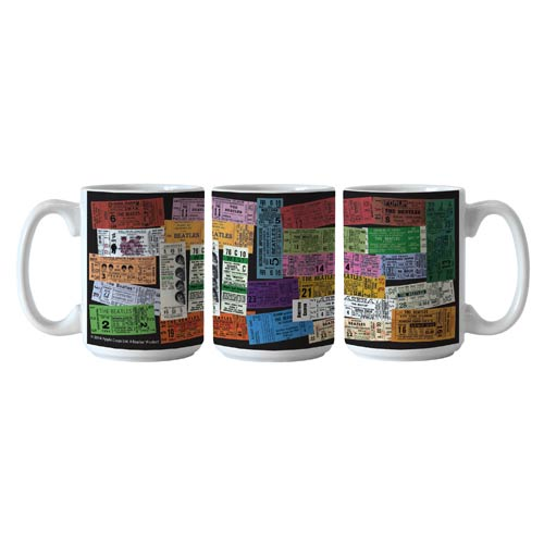 Beatles Tickets Collage 15 oz. Sublimated Coffee Mug
