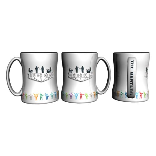 Beatles Help! 14 oz. Sculpted Relief Mug