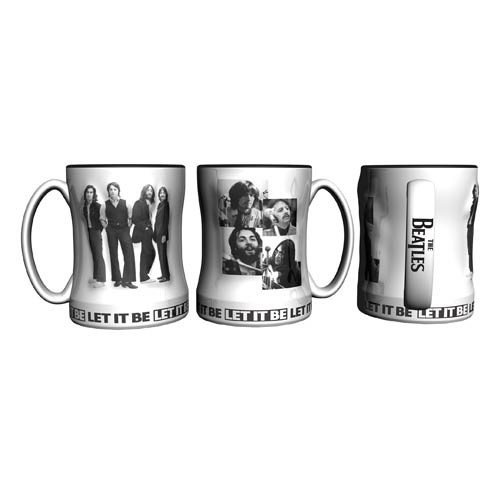 Beatles Let It Be 14 oz. Sculpted Relief Mug