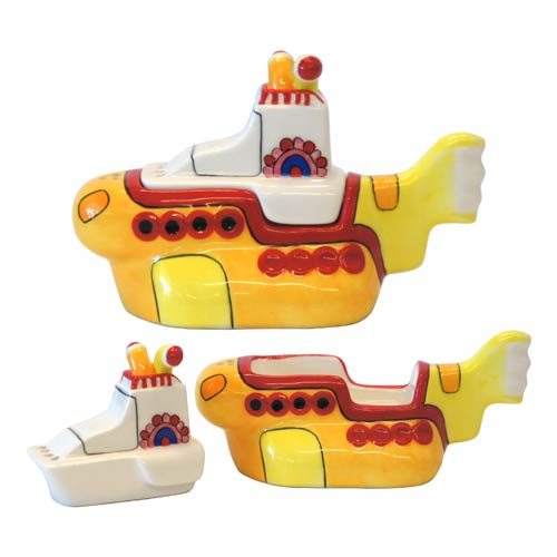 Beatles Yellow Submarine Pull-Apart Salt and Pepper Shakers
