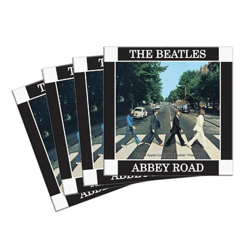 Beatles Abbey Road 4-Inch Ceramic Coaster 4-Pack