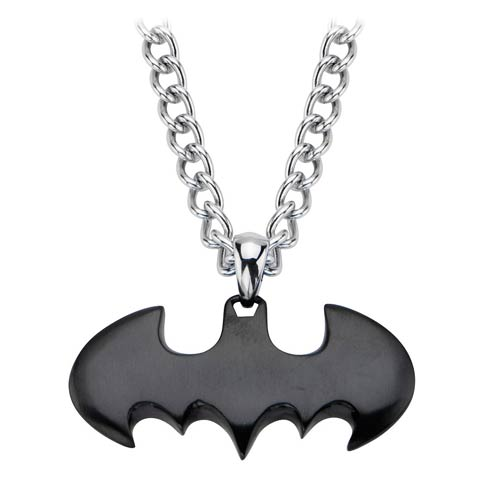 Batman Logo IP Black Batman Pendant with Chain