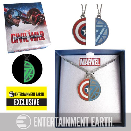 Captain America: Civil War BFF Necklace Set - EE Exclusive