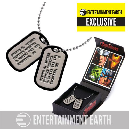 Captain America Steven Rogers Dog Tags Necklace Prop Replica - Entertainment Earth Exclusive