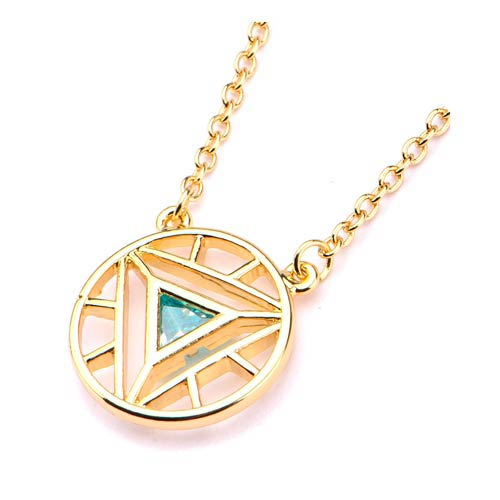 iron arc reactor gem logo necklace vibe iron