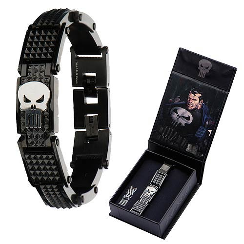 Punisher Black Skull Metal Bracelet