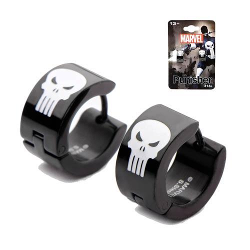Punisher Skull Huggie Earrings