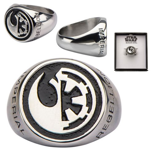 Star Wars Rebel Alliance and Galactic Empire Symbol Ring