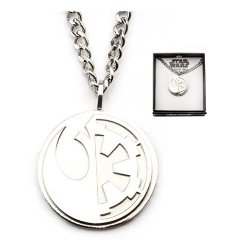 Star Wars Rebel Alliance and Galactic Empire Symbol Necklace