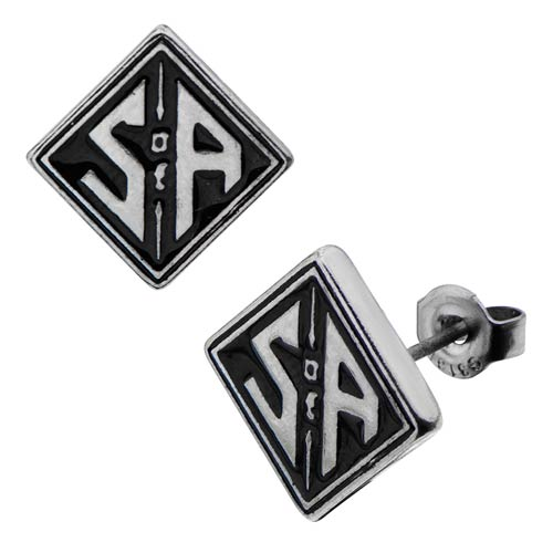 Sons of Anarchy Square Stud Earrings