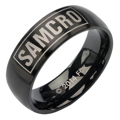 Sons of Anarchy SAMCRO Black Ring