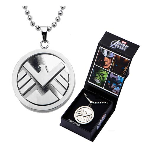 Agents of SHIELD Logo Pendant with Chain Necklace