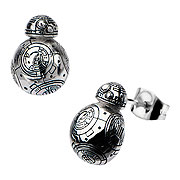 Star Wars Episode VII The Force Awakens BB 8 Droid 3D Cast Stainless Steel Earrings