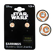 Star Wars Episode VII The Force Awakens BB 8 Droid Stainless Steel Stud Earrings