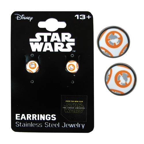 Star Wars VII BB-8 Droid Stainless Steel Stud Earrings