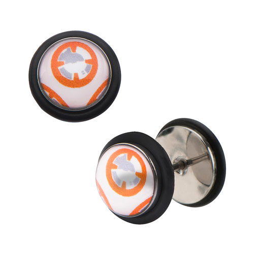 Star Wars: Episode VII - The Force Awakens BB-8 Droid Screw Back Stainless Steel Earrings