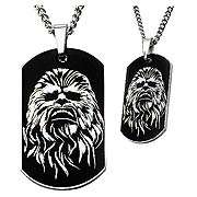 Star Wars Episode VII The Force Awakens Chewbacca Stainless Steel Dog Tag Necklace