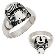 Star Wars Episode VII The Force Awakens Kylo Ren 3D Cast Stainless Steel Ring