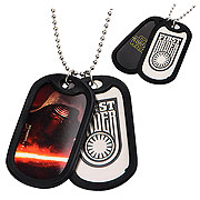 Star Wars Episode VII The Force Awakens Kylo Ren Double Dog Tag Pendant Necklace