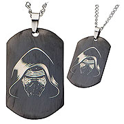 Star Wars Episode VII The Force Awakens Kylo Ren Stainless Steel Dog Tag Necklace