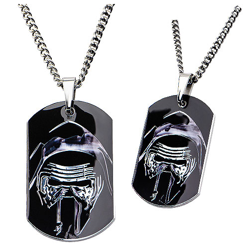 Star Wars VII Kylo Stainless Steel Dog Tag Pendant Necklace