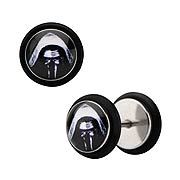 Star Wars Episode VII The Force Awakens Kylo Ren Stainless Steel Stud Earrings