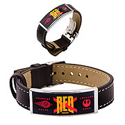 Star Wars Episode VII The Force Awakens Red X ID Leather Bracelet