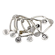 Star Wars Episode VII The Force Awakens Rey Stainless Steel Stretchable Charm Bracelet