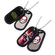 Star Wars Episode VII The Force Awakens Stormtrooper Double Dog Tag Pendant Necklace