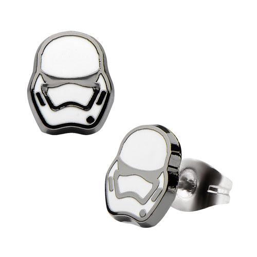 Star Wars VII Stormtrooper Stainless Steel Stud Earrings