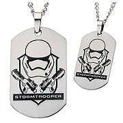Star Wars Episode VII The Force Awakens Stormtrooper Laser Etched Dog Tag Necklace