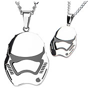 Star Wars Episode VII The Force Awakens Stormtrooper Helmet Pendant Necklace