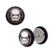 Star Wars Episode VII The Force Awakens First Order Stormtrooper Screw Back Earrings
