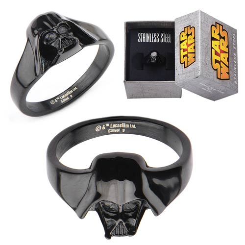 Star Wars Darth Vader 3-D Black Women's Ring