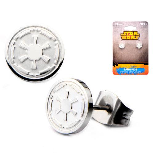 Star Wars Imperial Symbol Stainless Steel Stud Earrings