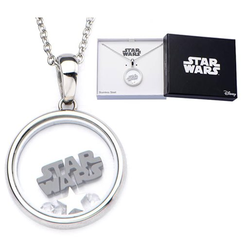 Star Wars Logo Beads Pendant Womens Stainless Steel Necklace