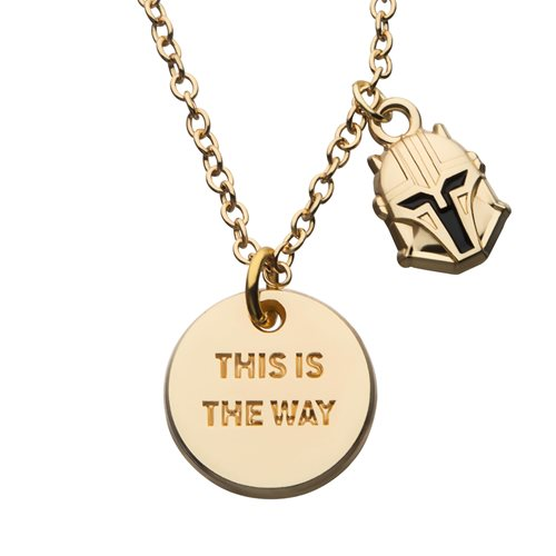 Star Wars The Mandalorian This Is The Way Necklace