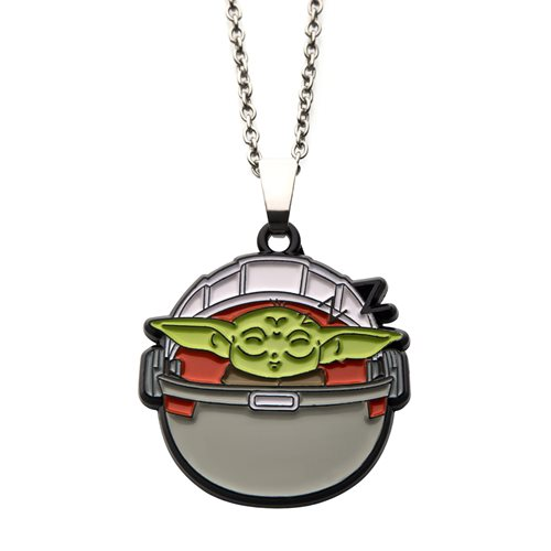 Star Wars The Mandalorian The Child Sleeping Necklace