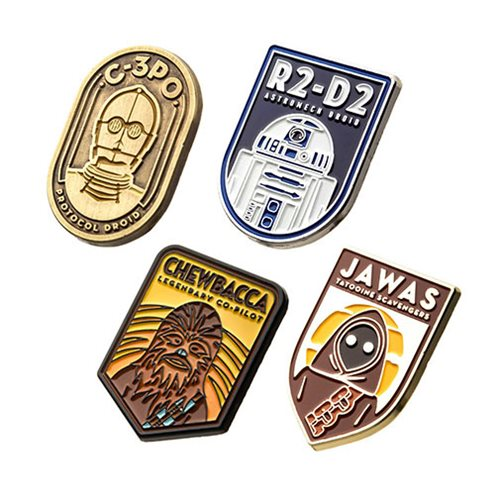 Star Wars Character 4-Pack Enamel Pin Set