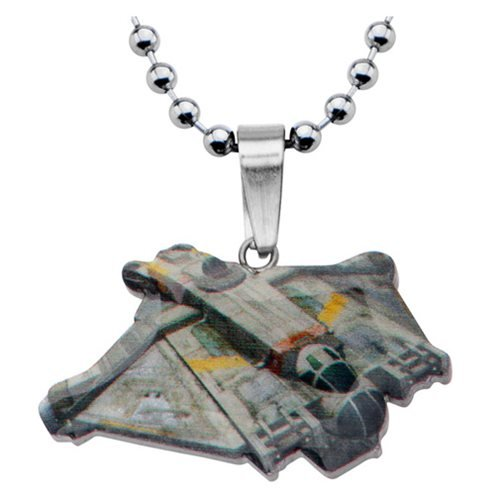 Star Wars Rebels Ghost Ship Cut Out Stainless Steel Necklace