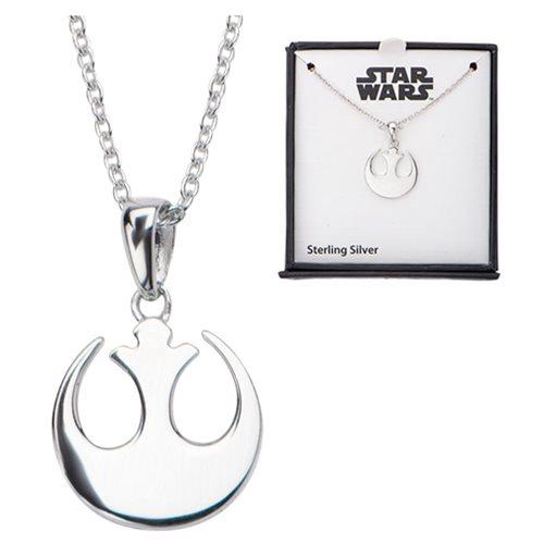 Star Wars Rebel Symbol Sterling Silver Pendant Necklace