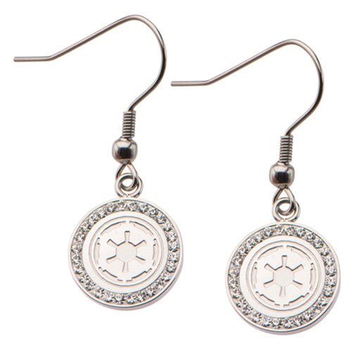 Star Wars Galactic Empire Symbol with Gems Dangle Earrings