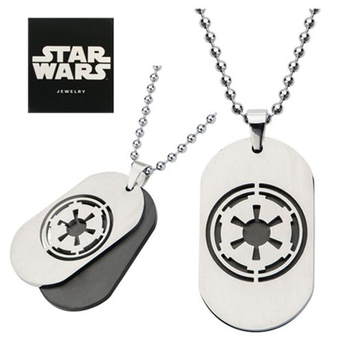 Star Wars Imperial Symbol Layered Dog Tag Necklace