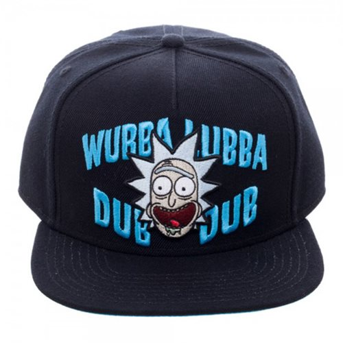 53d9a66d8ca Rick and Morty Wubba Black Snapback Hat